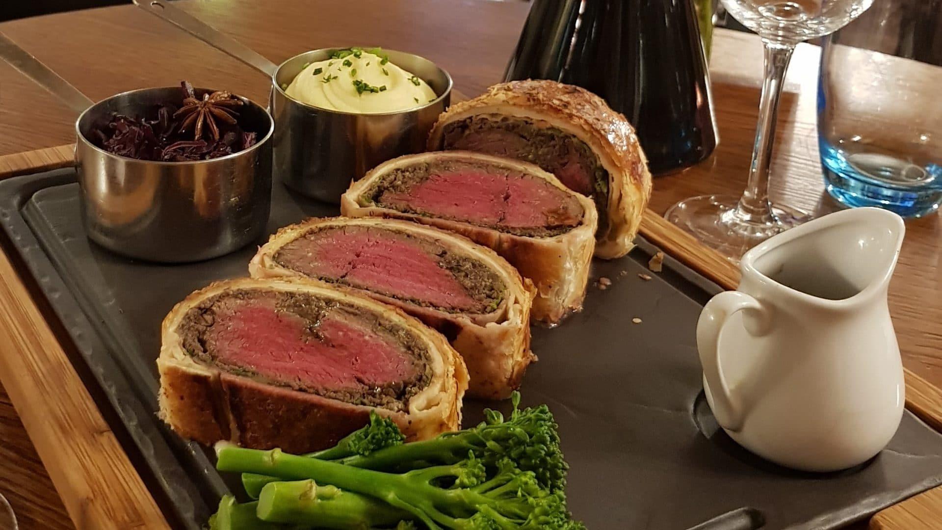 Every Wednesday Night Beef Wellington & Wine for 2 £48